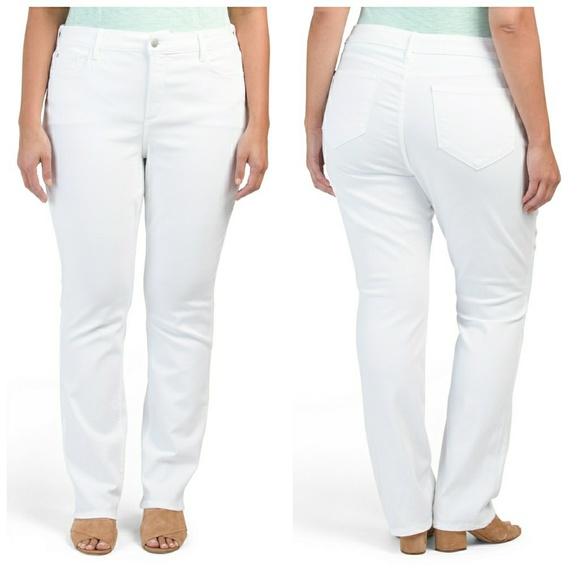078db972f99 NYDJ Marilyn Slimming Jeans Spring White Plus NWT